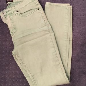 Urban Outfitters Mint Green Skinny Jeans